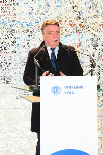 Michael Groschek, Minister für Bauen, Wohnen, Stadtentwicklung und Verkehr NRW, Foto: Uniklinik Köln