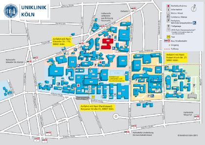 Lageplan HNO-Klinik