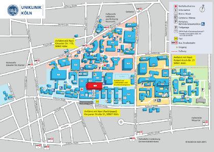 Lageplan ECMO-Zentrum
