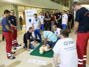 Teilnehmer des internationalen Reanimationsmarathons, Foto: Uniklinik Köln