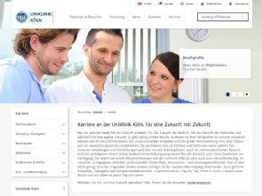 Die neuen Karriereseiten, Foto: Uniklinik Köln