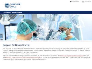 Die neuen Webseiten des Zentrums für Neurochirurgie passen sich jedem mobilen Endgerät an. Foto: Uniklinik Köln