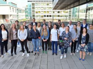 Die Uniklinik Köln begrüßte die Freiwilligen mit einer eigenen Einführungsveranstaltung, Foto: Uniklinik Köln