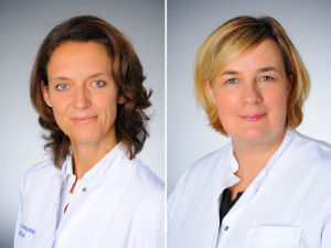 Prof. Dr. Christiane Bruns und Prof. Dr. Jessica Leers (v.l.), Foto: Uniklinik Köln