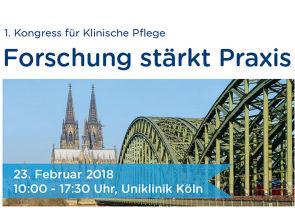 Am 23. Februar 2018 findet der 1. Kongress Klinische Pflege statt, Grafik: Uniklinik Köln