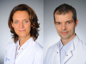 v.l. Prof. Dr. Christiane Bruns und Priv.-Doz. Dr. Thomas Zander, Foto: Uniklinik Köln