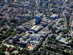 Luftaufnahme der Uniklinik Köln, Foto: Peter Sondermann