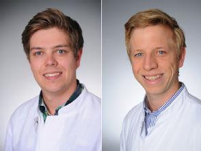 v.l. Dr. Jan Robert Kröger und Dr. Tilman Hickethier, Foto: Uniklinik Köln