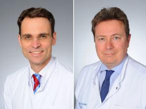 v.l. Univ.-Prof. Dr. Stephan Baldus und Univ.-Prof. Dr. Stephan Rosenkranz, Foto: Uniklinik Köln
