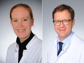 v.l. Dr. Bettina Baeßler und Dr. Michael Püsken, Foto: Uniklinik Köln