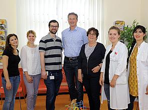 v.l. Julia Jäschke, Kristina Langhammer, Max Braun, Prof. Dr. Lutz T. Weber, Uta Kruse, Philine Bündgens und Sara Tochmafschan