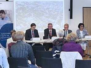 Jahrespressekonferenz 2016, Timo Mügge, Prof. Dr. Edgar Schömig, Günter Zwilling und Vera Lux