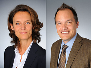 v.l. Prof. Dr. Christiane Bruns und Prof. Dr. Christian Reinhardt Foto: Uniklinik Köln