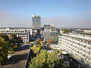 Blick auf das Bettenhaus, Foto: Uniklinik Köln