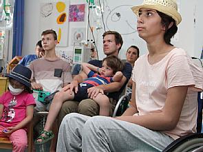 Live-Schaltung aus dem Weltall in die Kinderonkologie, Foto: Uniklinik Köln