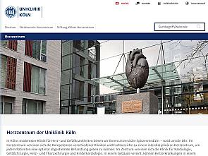 Neue responsive Website des Herzzentrums der Uniklinik Köln, Foto: Uniklinik Köln