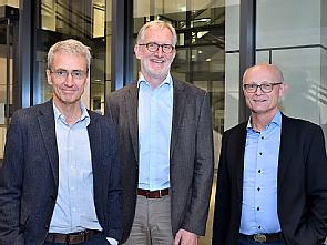 Leitungsgremium des nNGM: v.l. Prof. Dr. Jürgen Wolf, Prof. Dr. Christof von Kalle und Prof. Dr. Reinhard Büttner, Foto: Uniklinik Köln