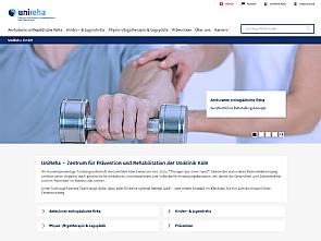 Neue responsive Website der UniReha Foto: Uniklinik Köln