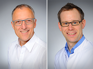 Prof. Dr. Thomas Benzing und Prof. Dr. Paul Brinkkötter, Fotos: Michael Wodak
