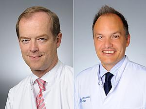 Univ.-Prof. Dr. Michael Hallek und Univ.-Prof. Dr. Christian Reinhardt, Foto: Uniklinik Köln