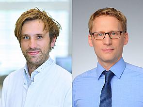 v.l. Dr. Henning Grüll und Univ.-Prof. Dr. Florian Klein, Foto: Uniklinik Köln