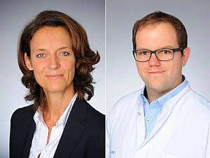 v.l. Prof. Dr. Christiane Bruns und Dr. Patrick Plum, Foto: Uniklinik Köln