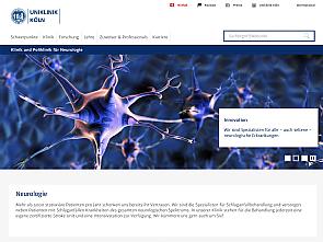 Neue responsive Website der Klinik und Poliklinik für Neurologie, Foto: Uniklinik Köln