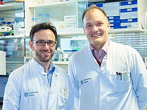 v.l. Dr. Ron Jachimowicz und Univ.-Prof. Dr. Christian Reinhardt, Foto: Uniklinik Köln