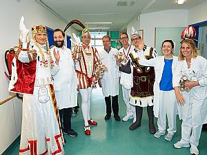 Besuch des Kölner Dreigestirns in der Kinderonko, Bildergalerie, Foto: Uniklinik Köln