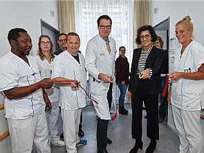 Bei der offiziellen Eröffnung, Foto: Uniklinik Köln