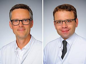 v.l. Prof. Dr. Wolfgang Schröder und Priv.-Doz. Dr. Markus Ghadimi, Foto: Uniklinik Köln