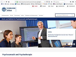 Neuer Webauftritt der Psychosomatik und Psychotherapie, Foto: Uniklinik Köln