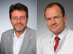 Prof. Dr. Raymond Voltz und Prof. Dr. Roland Goldbrunner, Foto: Uniklinik Köln
