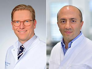 Prof. Dr. Jens Peter Klußmann und Prof. Dr. Baki Akgül (v. l.), Foto: Uniklinik Köln