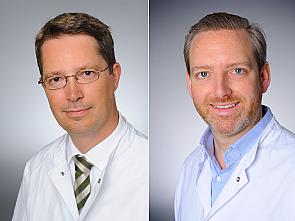 Prof. Dr. Claus Cursiefen und Prof. Dr. Björn Schumacher, Foto: Michael Wodak