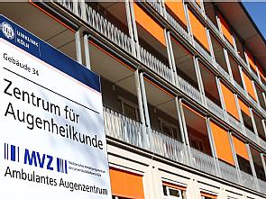 Augenzentrum der Uniklinik Köln, Foto: Dorothea Hensen