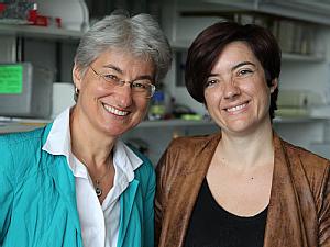 Prof. Dr. Brunihilde Wirth und Laura Torres-Benito, Foto: Christoph Wanko
