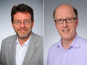 Prof. Dr. Raymond Voltz und Priv.-Doz. Dr. Steffen Simon, Foto: Michael Wodak