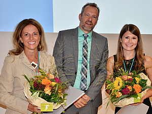 Prof. Dr. Dr. Maria Cristina Polidori (l.) und Anna Maria Meyer (r.) in Frankfurt a.M., Foto: Torben Brinkema / DGG
