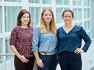 Anne Herrmann, Astrid Kwiatek und Laura Kusma (v.l.), Foto: Michael Wodak
