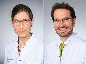 Priv.-Doz. Dr. Heidrun Golla und Priv.-Doz. Dr. Clemens Warnke, Foto: Michael Wodak