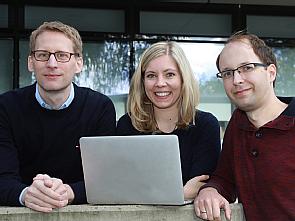 Prof. Dr. Florian Klein, Stefanie Ehrhardt und Dr. Matthias Zehner (v.l.) , Foto: Dorothea Hensen