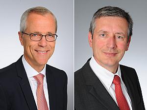 Univ.-Prof. Dr. Gereon Fink und Univ.-Prof. Dr. Edgar Schömig (v.l.), Foto: Michael Wodak