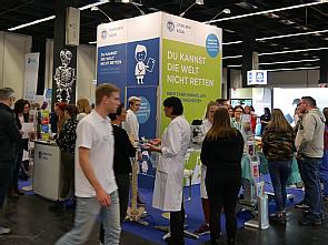 Der Stand der Uniklinik Köln auf der Berufe Live Rheinland, Foto: Thomas Merker
