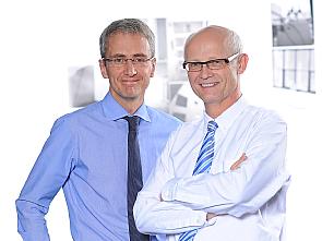 Die Sprecher des Nationalen Netzwerk Genomische Medizin Lungenkrebs: Prof. Dr. Jürgen Wolf und Prof. Dr. Reinhard Büttner, Foto: Michael Wodak