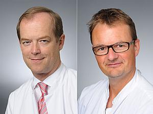 Prof. Dr. Michael Hallek und Priv.-Doz. Dr. Matthias Kochanek (v.l.), Foto: Michael Wodak