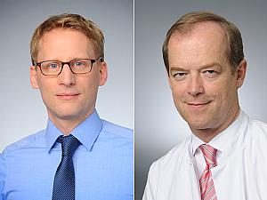 Prof. Dr Florian Klein und Prof. Dr. Michael Hallek (v.l.) , Fotos: Michael Wodak