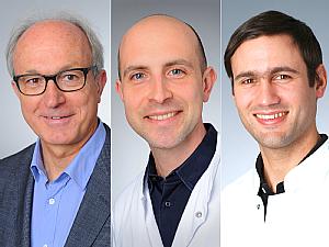 Univ.-Prof. Dr. Gerd Fätkenheuer, Priv.-Doz. Dr. Dr. Jan Rybniker und Priv.-Doz. Dr. Boris Böll (v.l.), Fotos: Christian Wittke, Klaus Schmidt