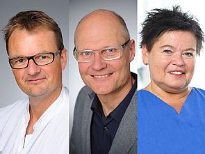 Priv.-Doz. Dr. Matthias Kochanek, Jochen Wolff und Marita Kurdts (v.l.), Fotos: Michael Wodak