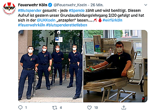 Quelle: Feuerwehr Köln/Twitter